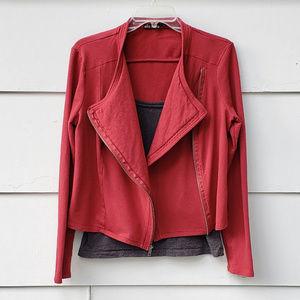 Ella Moss Asymmetrical Moto Red Jacket - Large